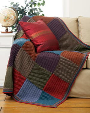 Checkered Knit Blanket