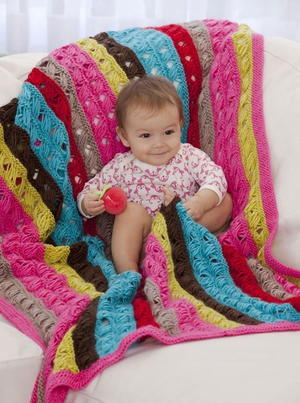 Modern Lovey Baby Afghan Favecrafts