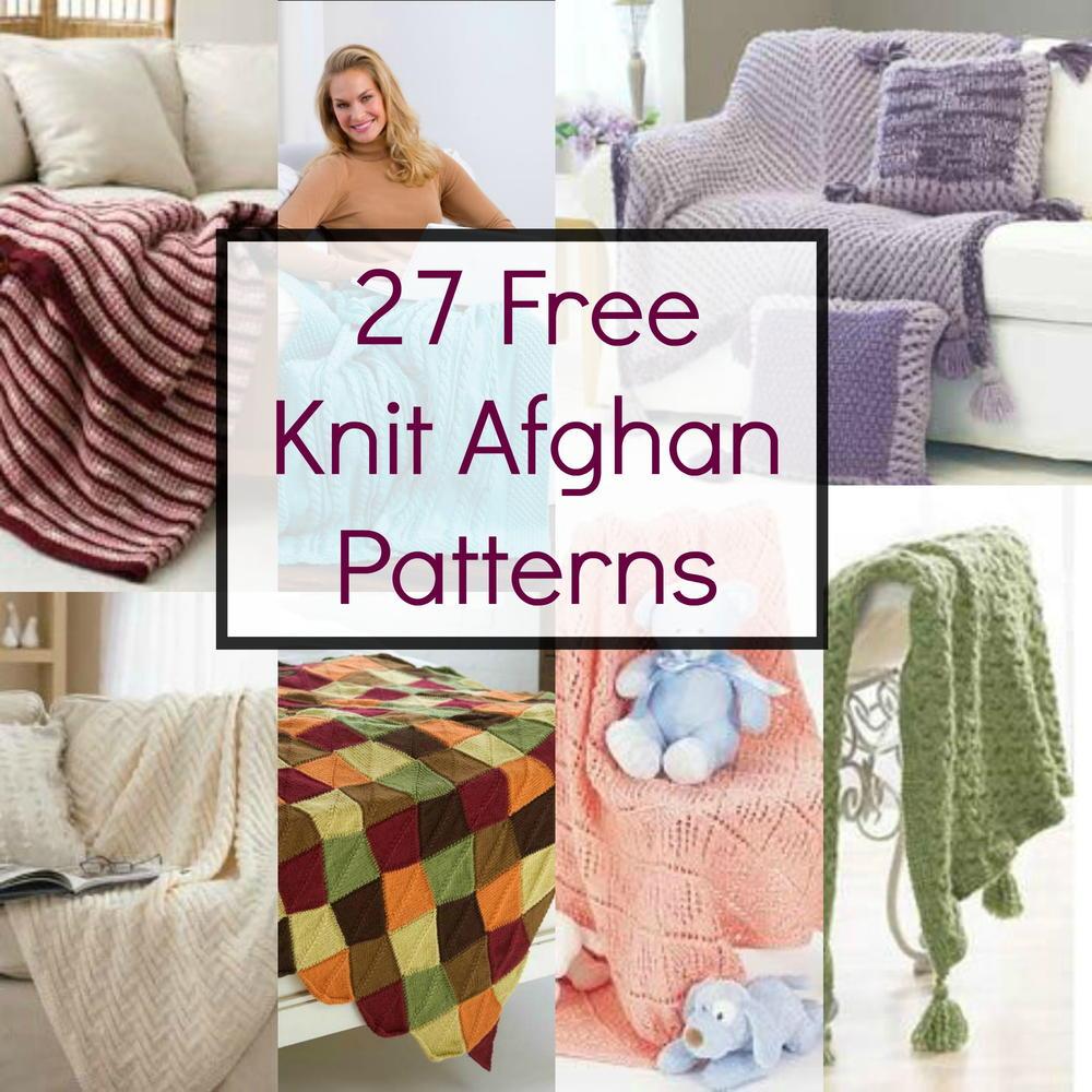 Afghan Hat Knitting Pattern : 27 Free Knit Afghan Patterns FaveCrafts.com