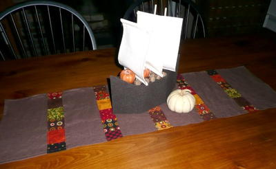 Quick Patchwork Thanksgiving Table Runner