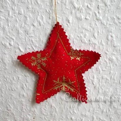 Fabric Star Christmas Tree Ornament