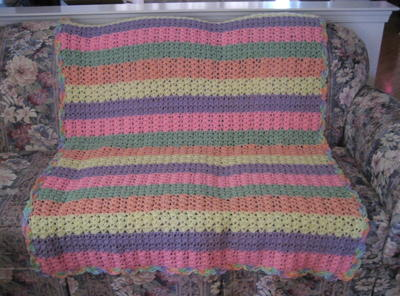 Shell Stitch Variation Afghan