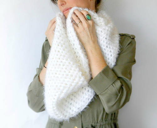 Powdered Sugar Infinity Scarf Crochet Pattern Favecrafts