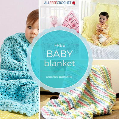 40 Cuddly Crochet Baby Blanket Patterns AllFreeCrochet Adorable Baby Patterns