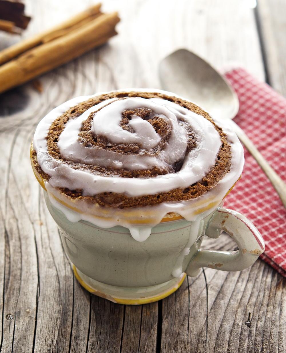 Cinnamon Roll in a Mug | FaveGlutenFreeRecipes.com