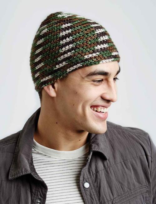 Camo Crochet Hat Allfreecrochet