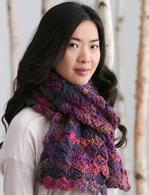 Aurora Borealis Crochet Scarf Allfreecrochet