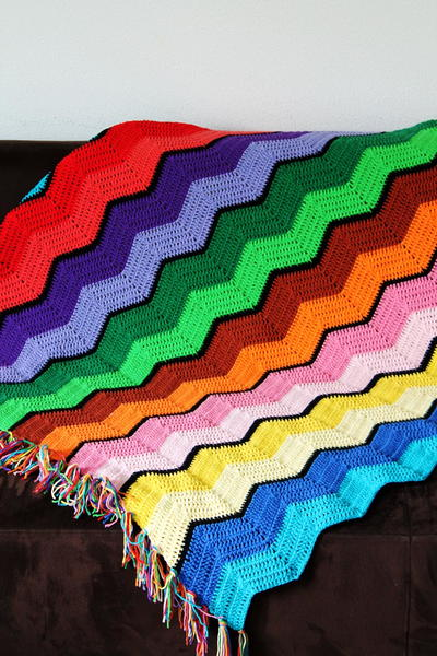 Retro Ripple Crochet Afghan Allfreecrochet