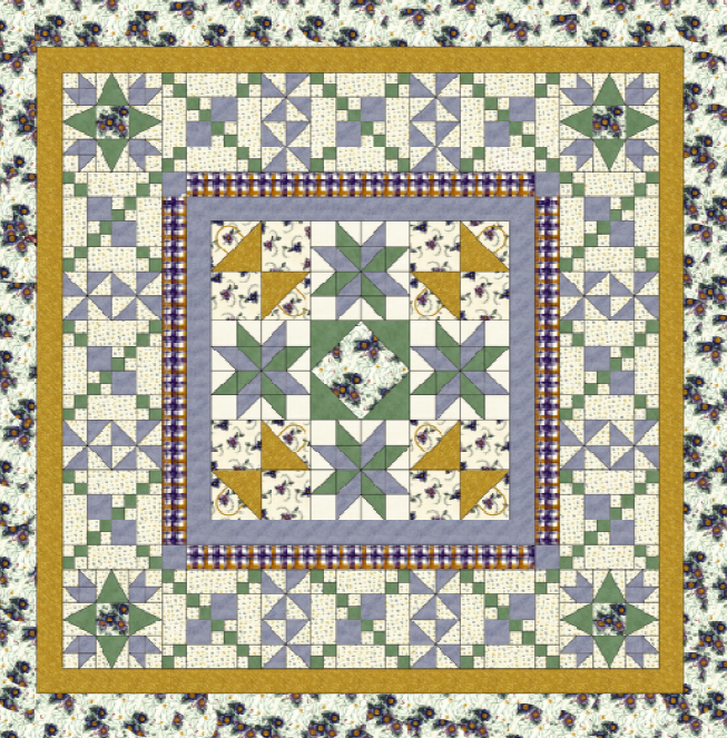 Briar Rose Star Quilt Favequilts Com