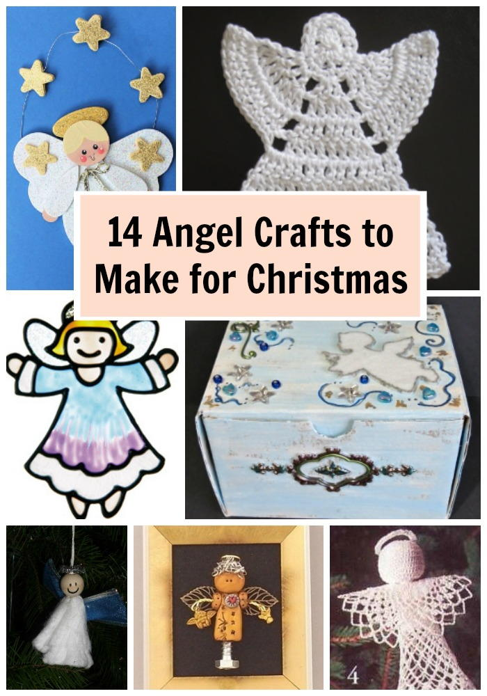 14 angel crafts to make for christmas for Craft angels to make