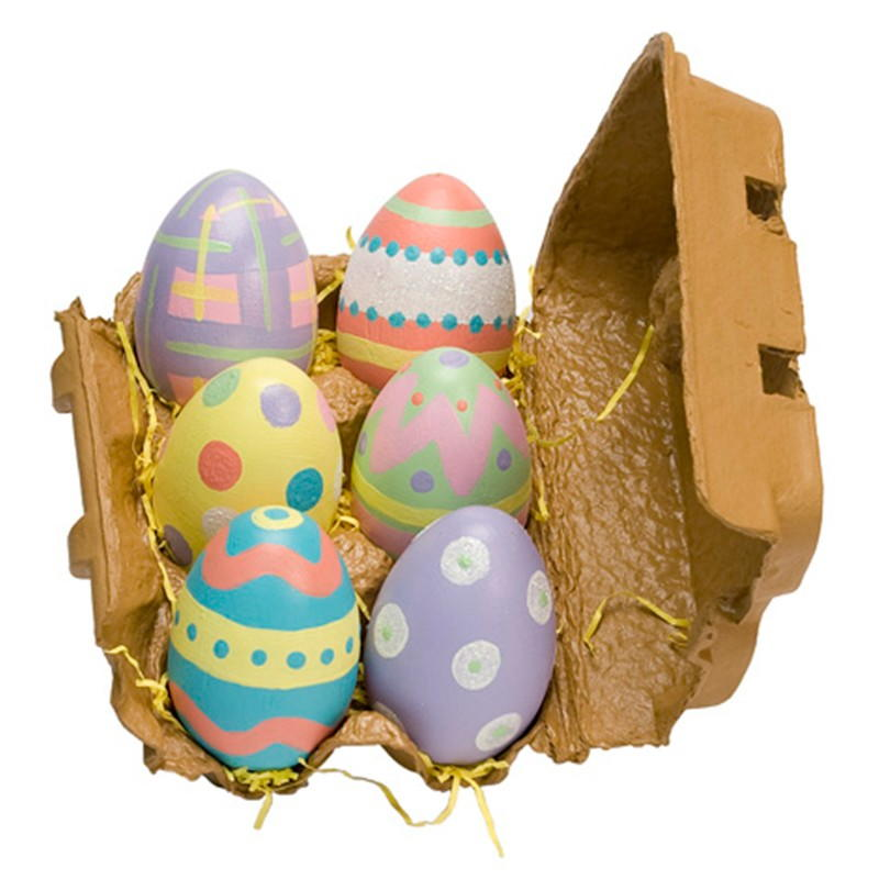 6 painted wood easter eggs - Painted wooden easter eggs ...