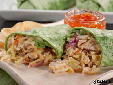 EDR Asian Chicken Wraps