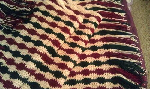 Striped Christmas Crochet Blanket Allfreecrochetafghanpatterns