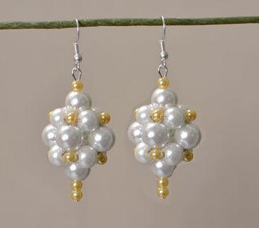 Pearl Ball Bridal Earrings