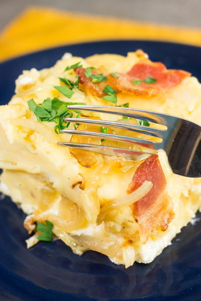 Lazy Slow Cooker Pierogi Casserole