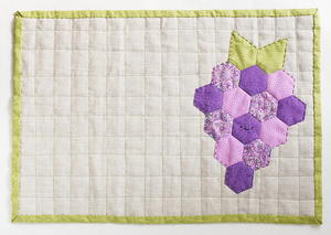 Fruity Grapes Quilted Placemat