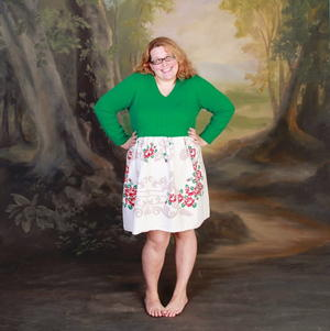 Easy Tablecloth Sweater Dress