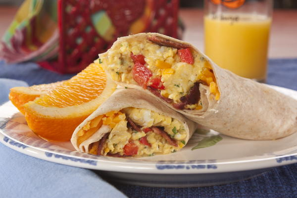 EDR Cheesy Bacon Breakfast Tortillas