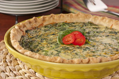 EDR Cheesy Spinach Quiche