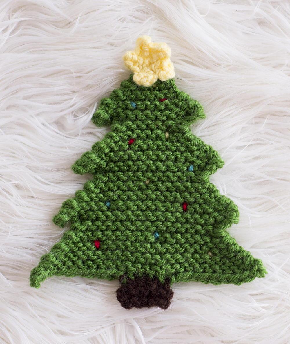 Xmas Tree Knitting Patterns : Christmas tree pot holder allfreeknitting
