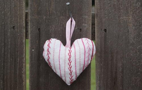 Precious Embroidered Heart Ornament