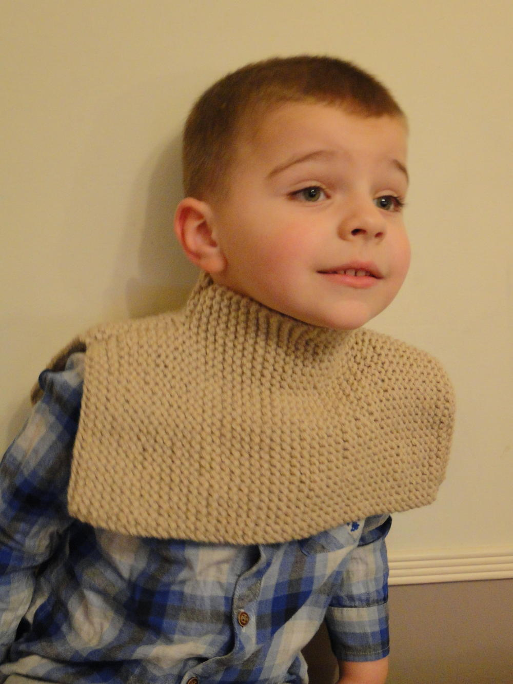 Under Your Coat Knit Scarf for Kids | AllFreeKnitting.com