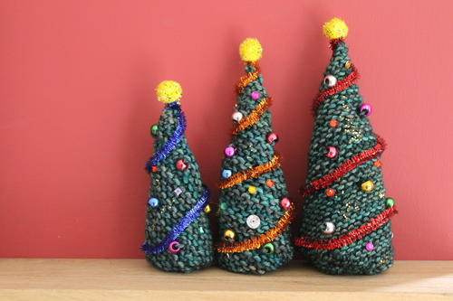Easy Knitted Christmas Trees Allfreeknitting