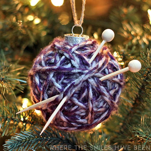 Super Cute Yarn Ball Ornament