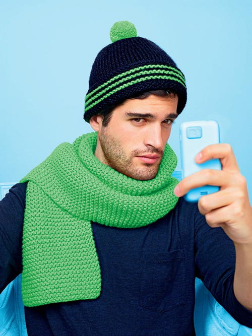 Mens Knit Pom Hat