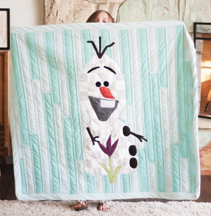 Adorable Olaf The Snowman Quilt Favequilts Com