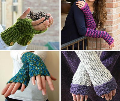 47 Incredible Crochet Fingerless Gloves | AllFreeCrochet.com