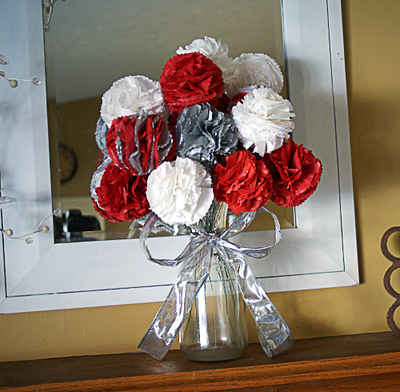 Tissue paper flowers christmas bouquet allfreepapercrafts tissue paper flowers christmas bouquet mightylinksfo