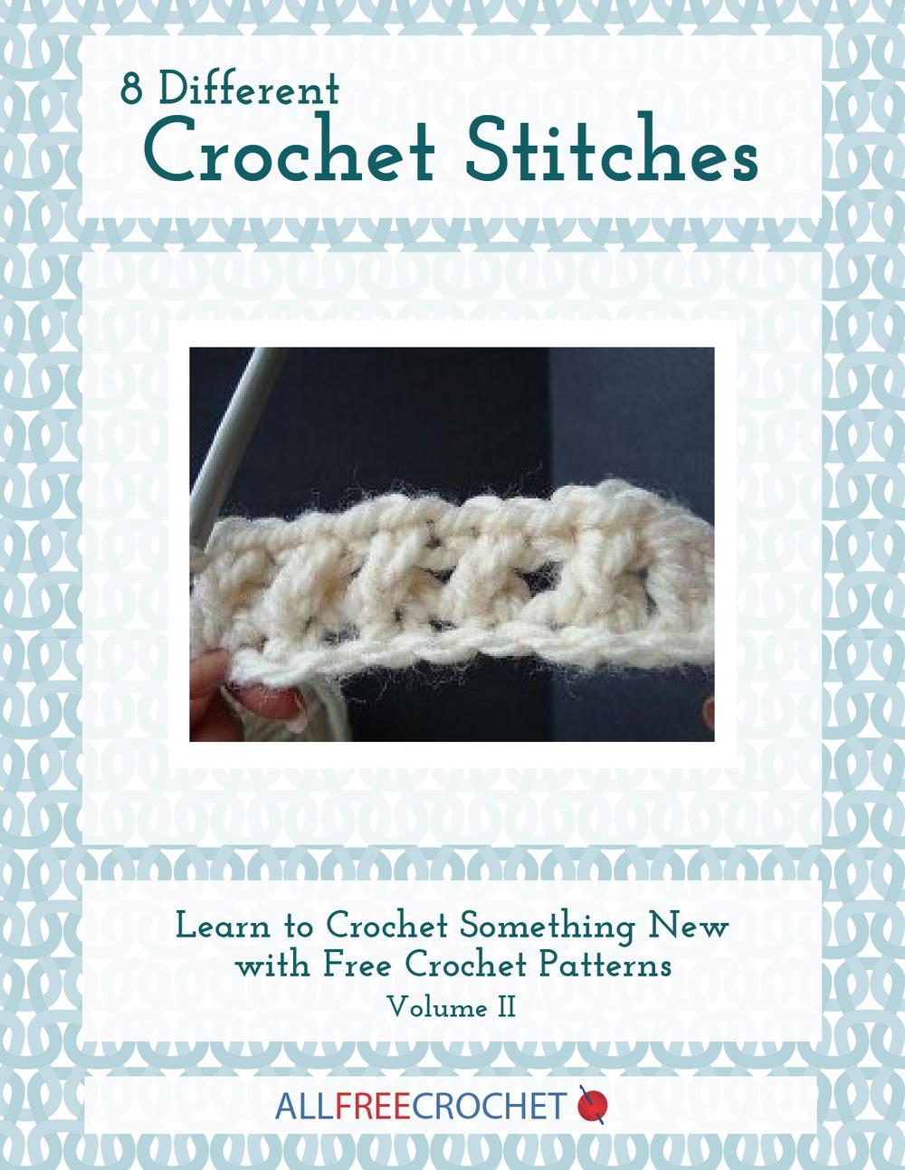 20 Basic Crochet Stitches Diagram Patterns 8 Different Volume Ii