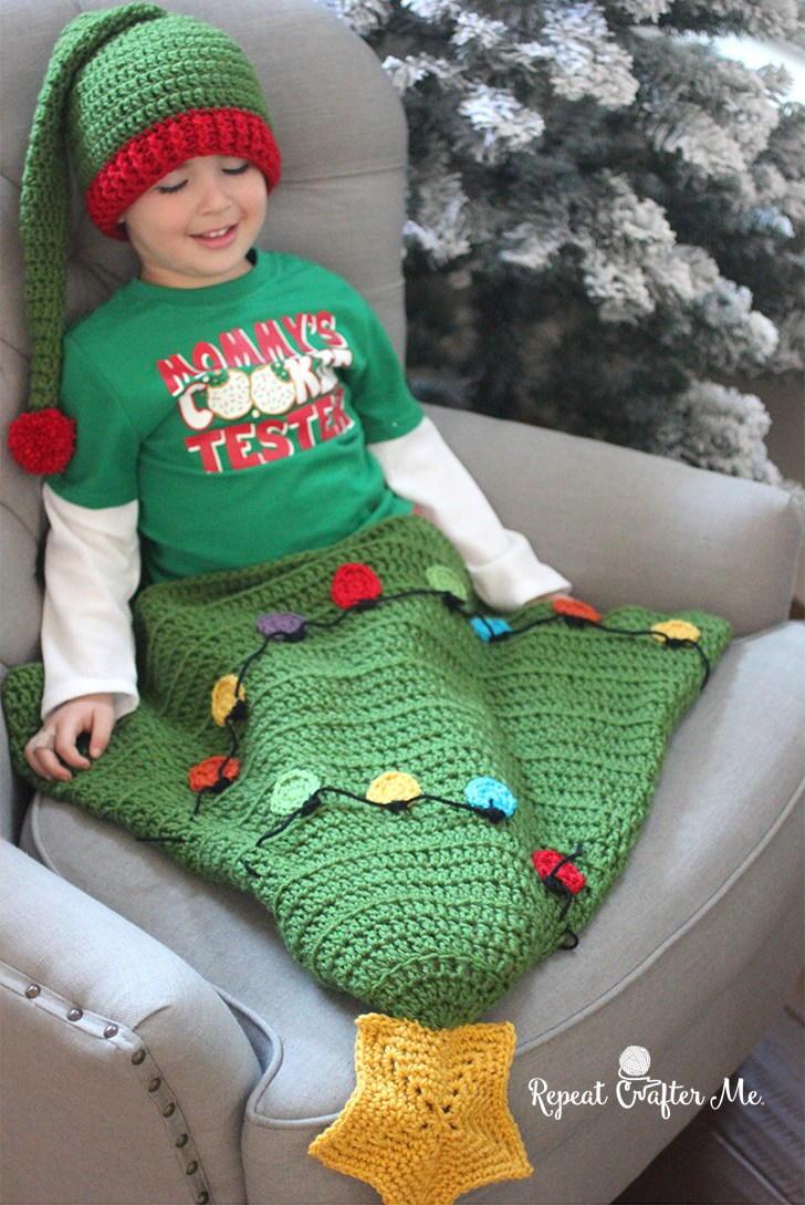 Crochet Christmas Tree Blanket Tail Allfreecrochet Com