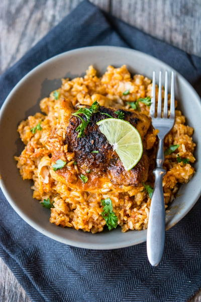 Slow Cooked Southwestern Chicken and Rice