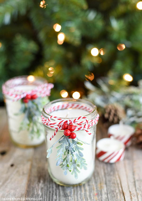Diy christmas mason jar candle allfreechristmascrafts solutioingenieria Image collections
