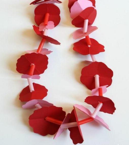 Hawaiian paper flower lei allfreepapercrafts hawaiian paper flower lei mightylinksfo