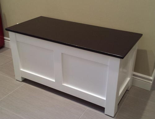 Homemade Entryway Storage Bench