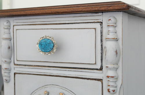 Old Jewelry DIY Drawer Pulls DIYIdeaCentercom