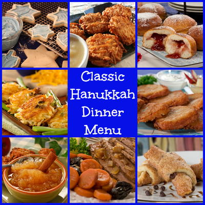 Classic hanukkah dinner menu mrfood enjoy these easy recipes perfect for rounding out your hanukkah meal weve got all the traditional favorites including potato pancakes brisket recipes forumfinder Choice Image