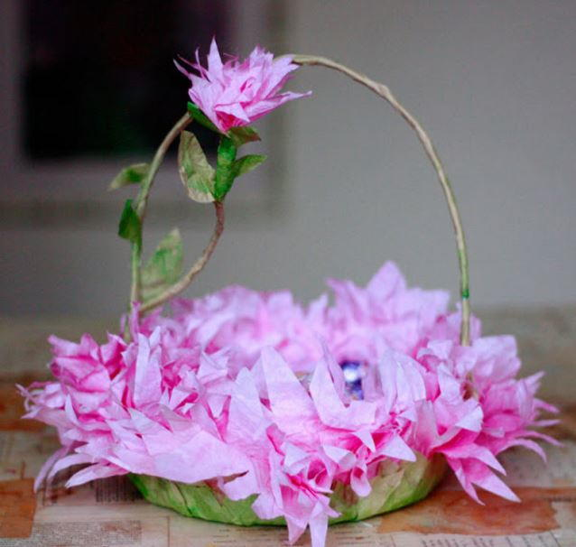 Blooming Coffee Filter Easter Baskets Allfreeholidaycrafts Com