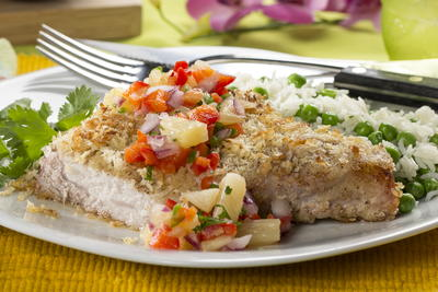 Coconut-Crusted Pork Chops