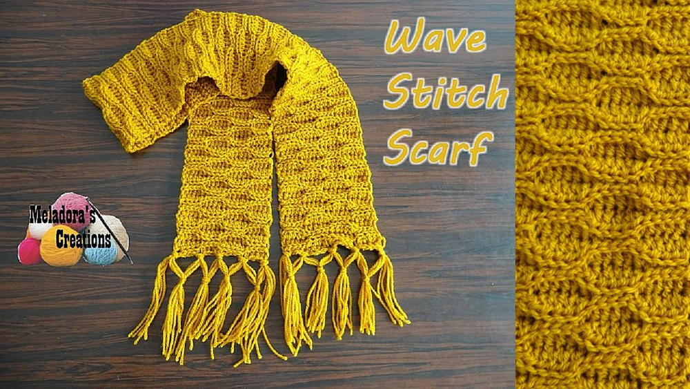 Wave Stitch Crochet Scarf Pattern Favecrafts Com