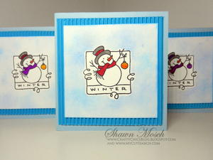 Smiling Snowman Card