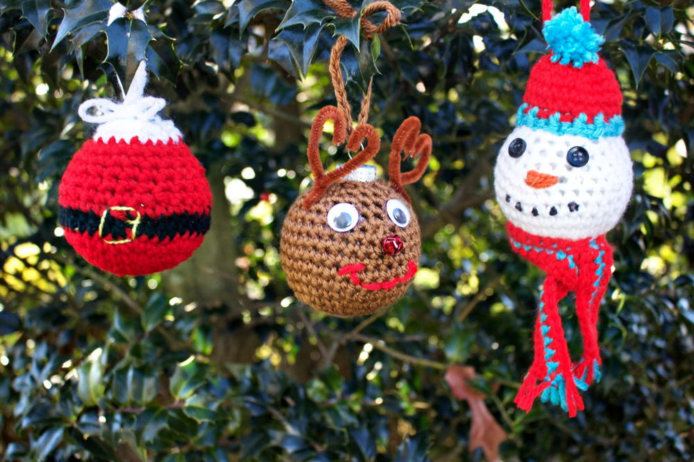 Crochet Christmas Tree Ornaments | AllFreeCrochet.com
