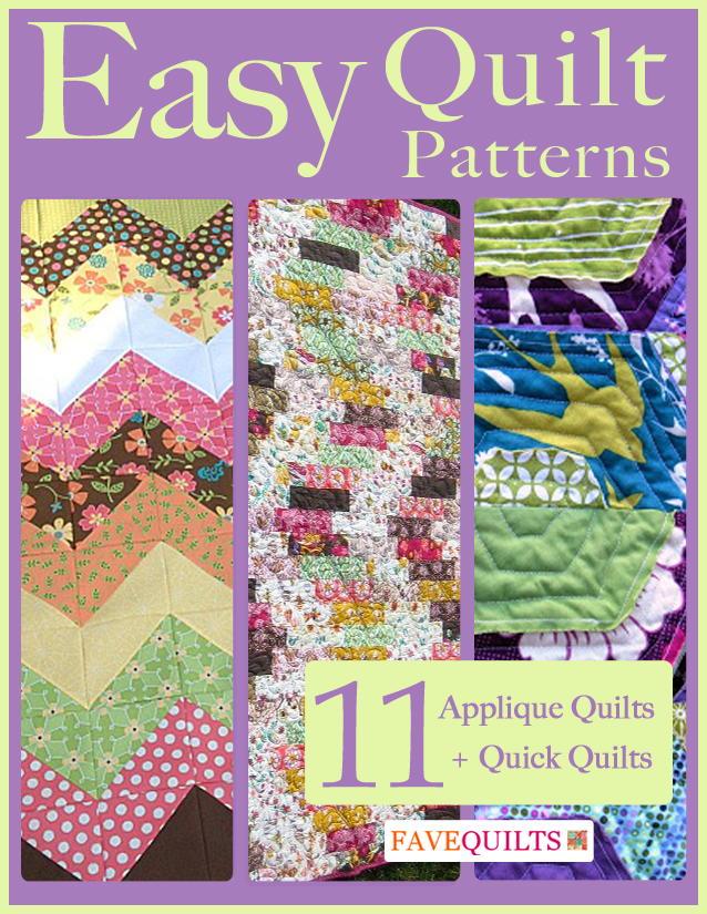 Easy Quilt Patterns: 11 Applique Quilt Patterns + Quick Quilts FaveQuilts.com