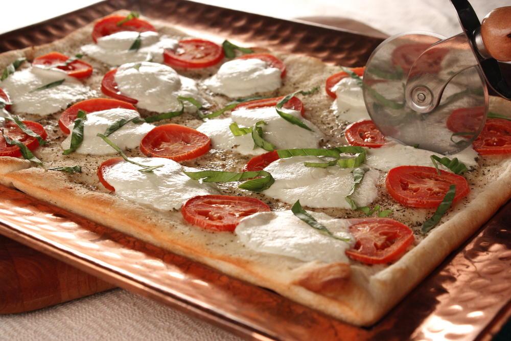 schnelle mozzarella pizza — rezepte
