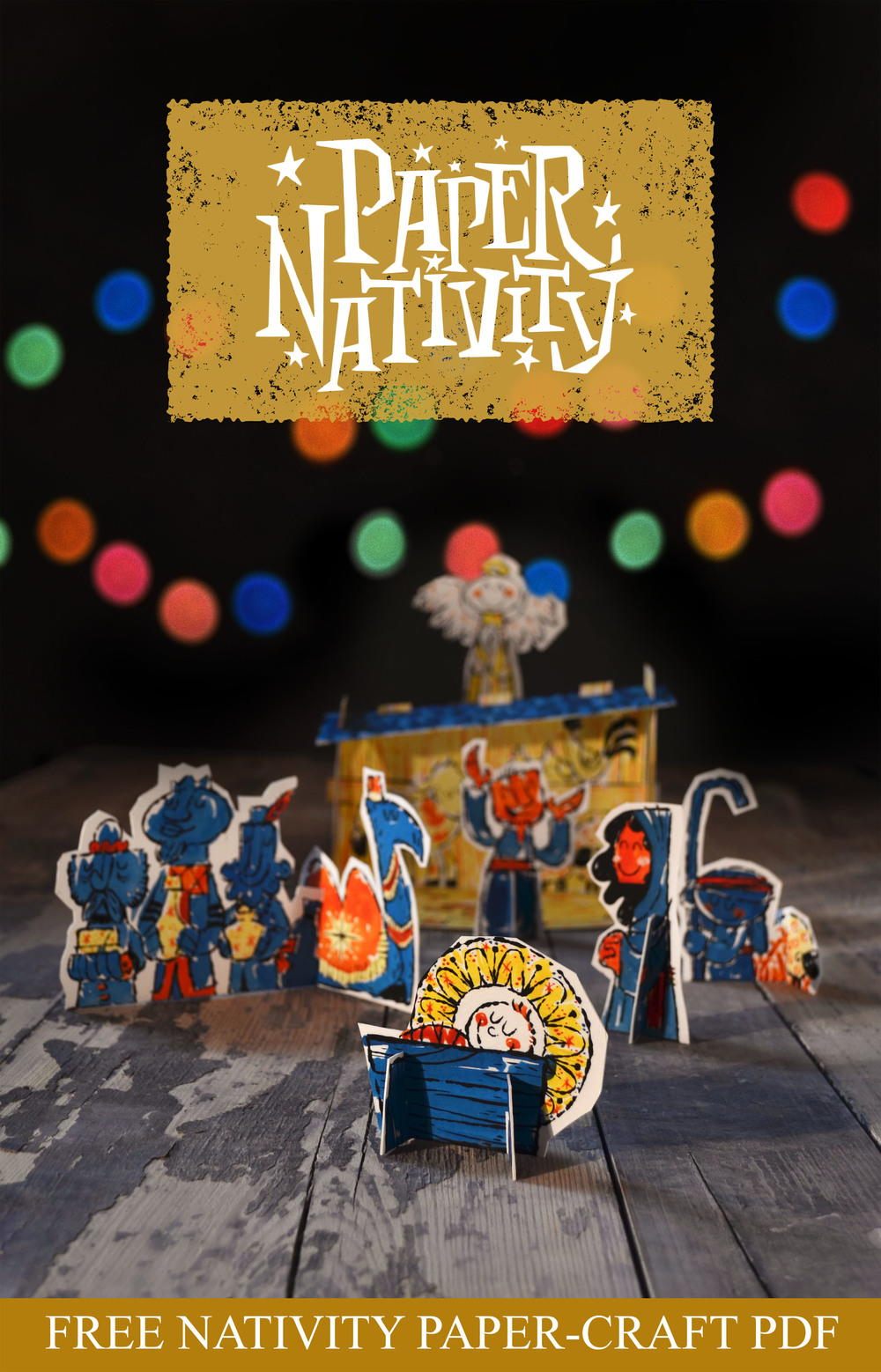 Free printable paper nativity for All free holiday crafts