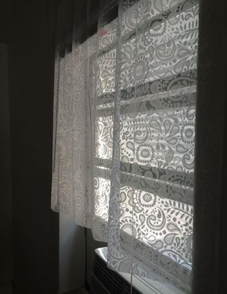 Lace No Sew DIY Curtains