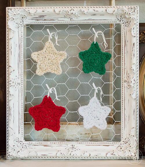 Christmas Star Crochet Ornament Allfreecrochet